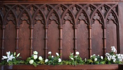 Flowers in the choir